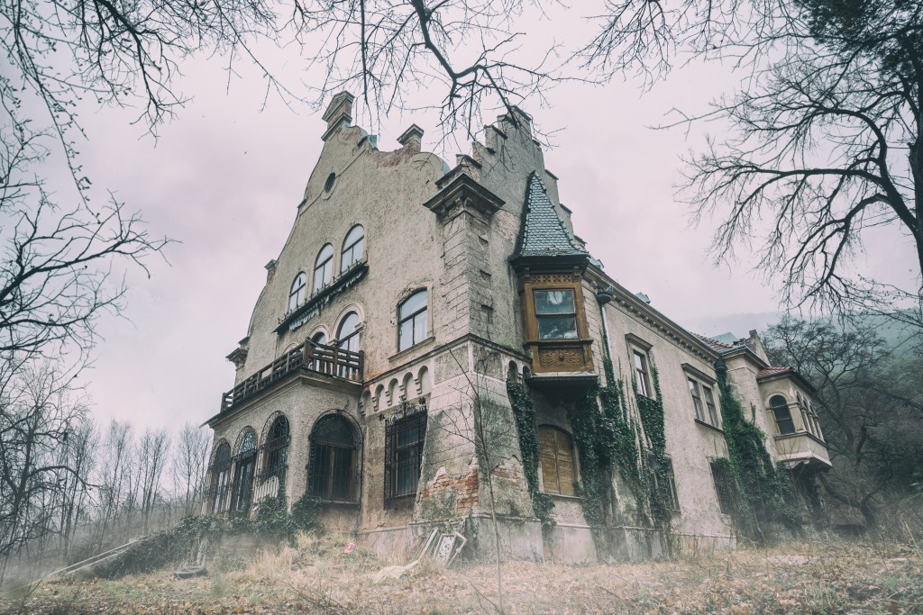 Spooky old abandoned mansion