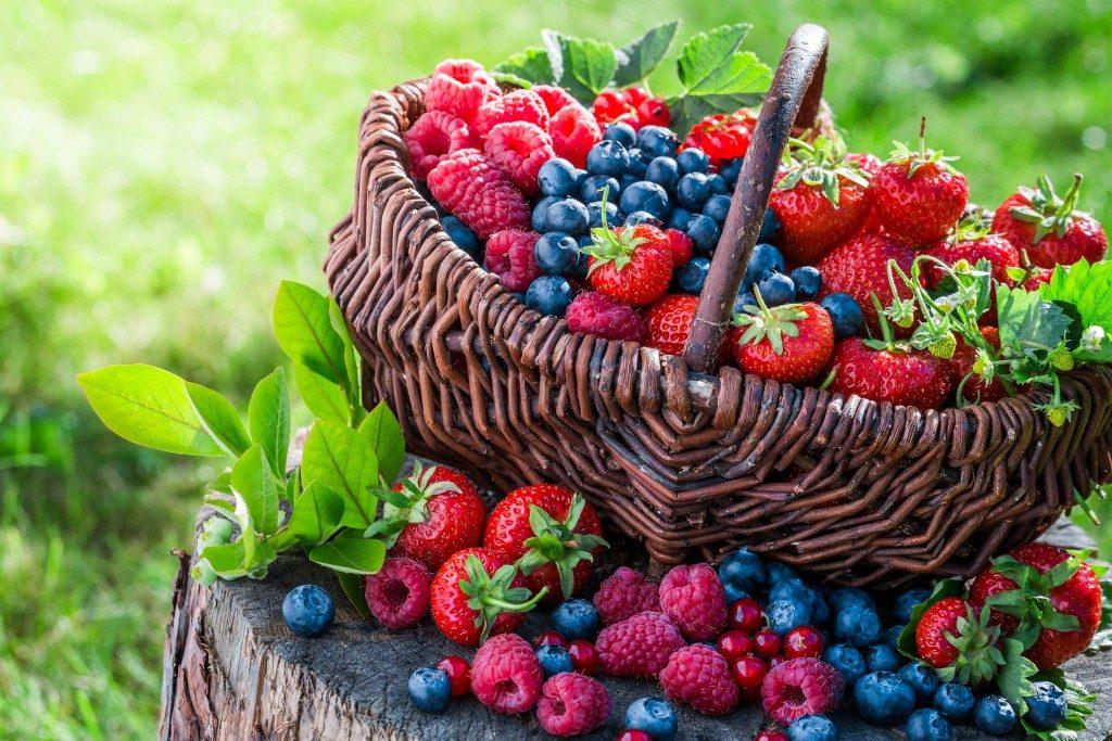Ripe mixed berries