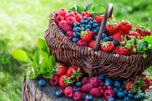 Ripe mixed berries