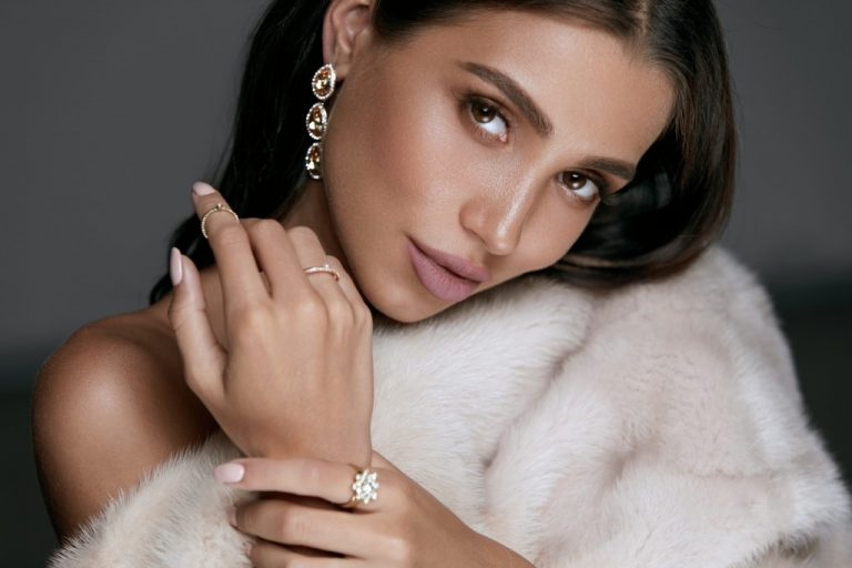 Woman wearing fine piece of jewelry