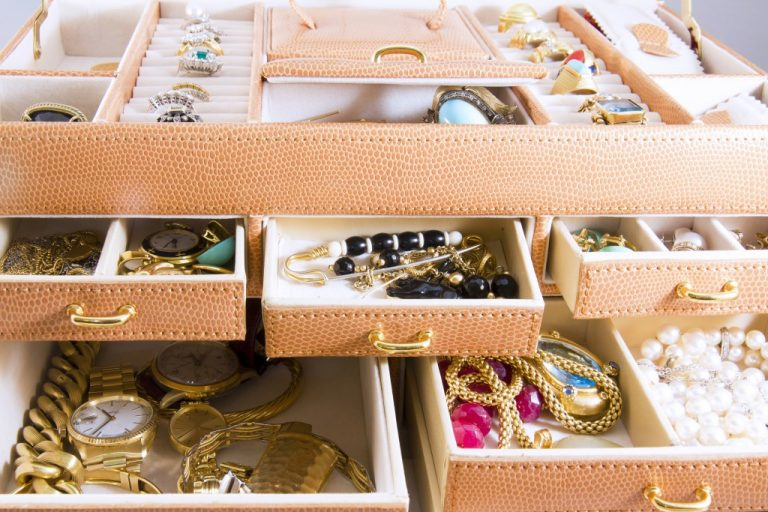 Boxes full of jewelry
