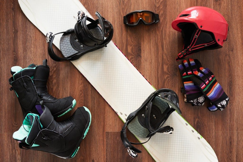 snow boots and ski accessories