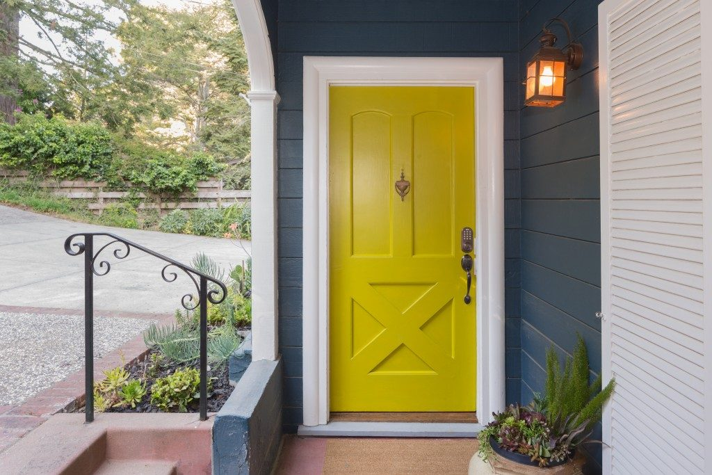 Yellow Green entry door
