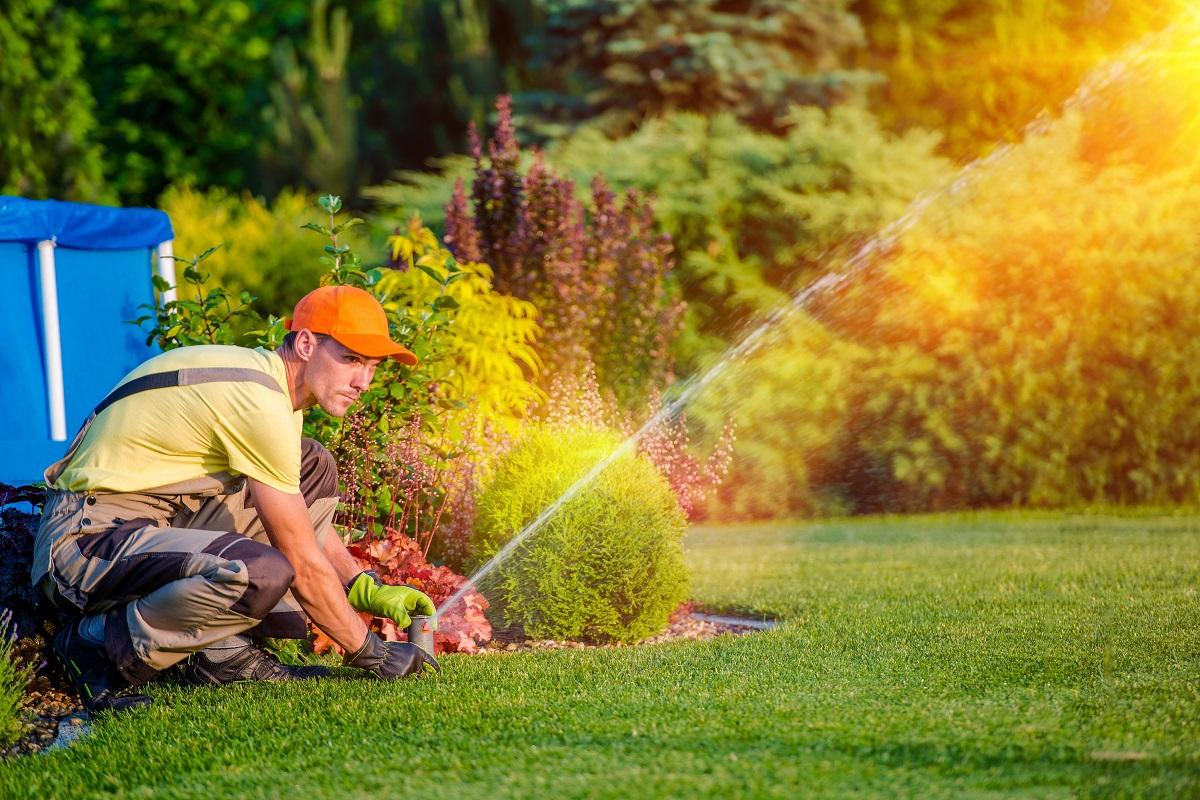 gardener fixing the hose