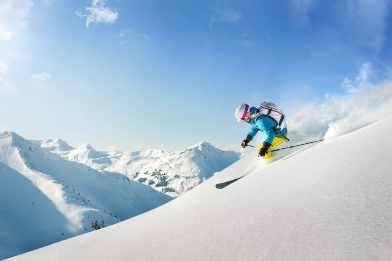 Female freeride skier