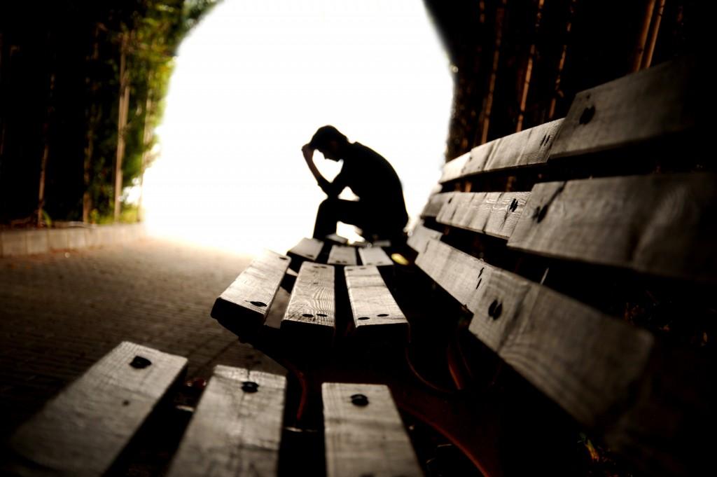 person in the dark tunnel