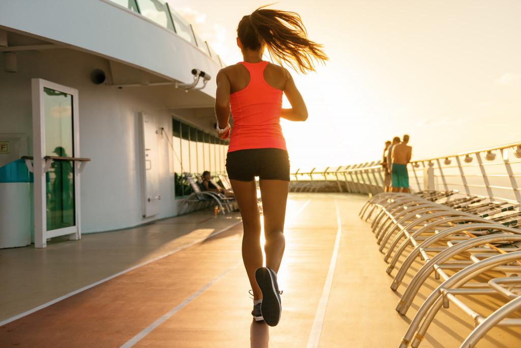 jogging on a cruiseship